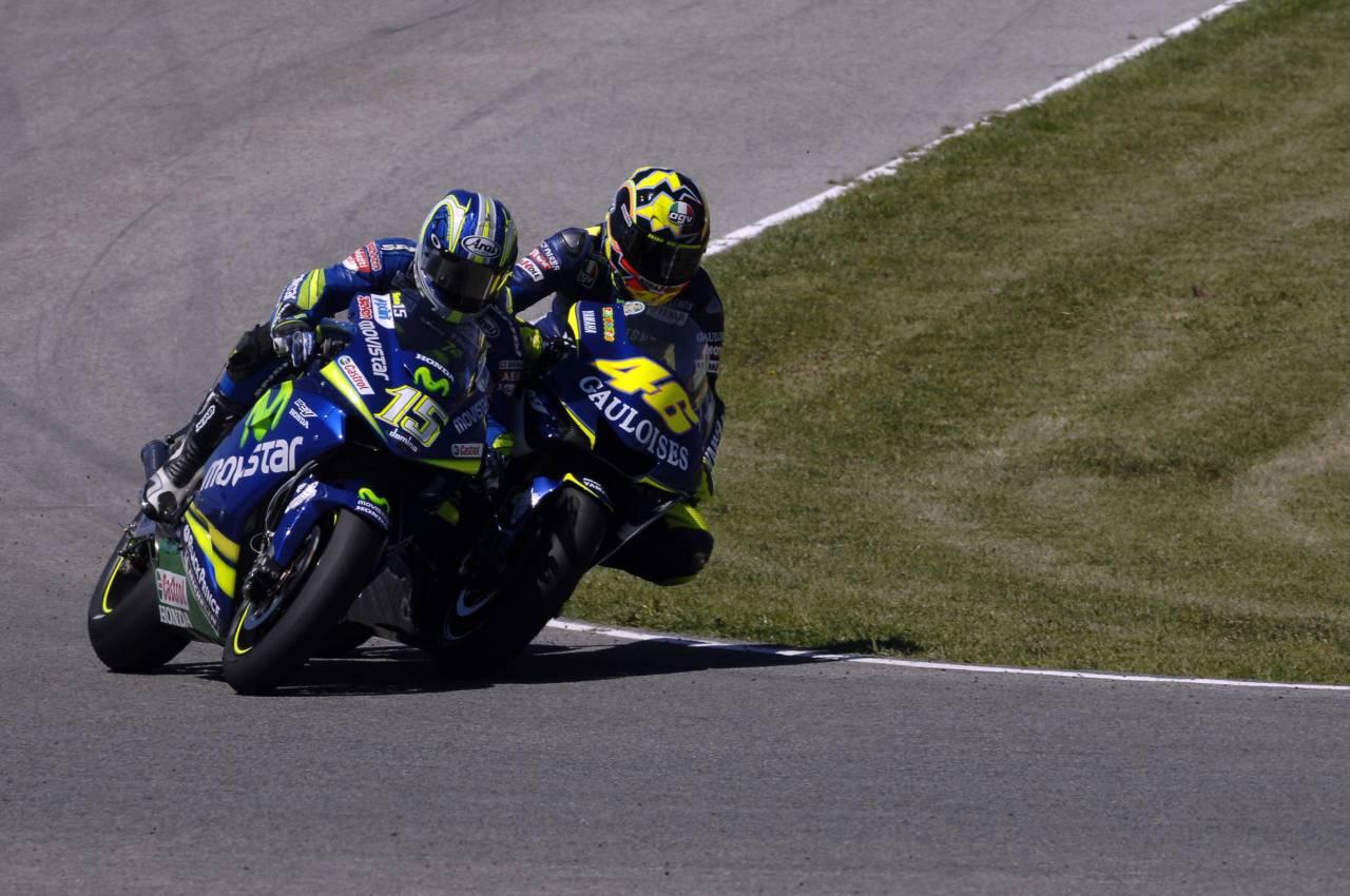 Rossi vs Gibernau. Jerez 2005
