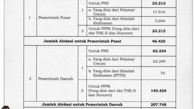 Seleksi CPNS dan PPPK 2019