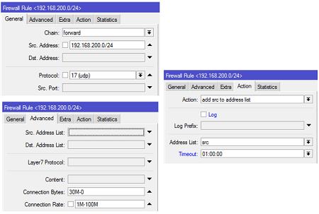 Konfigurasi UDP firewall