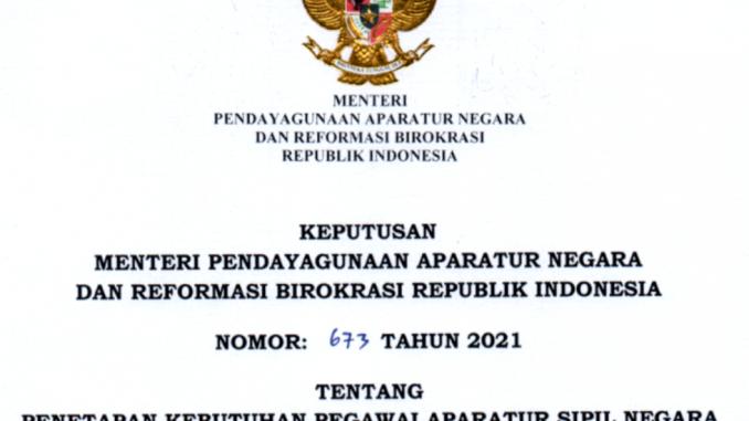 CPNS Aceh Singkil 2021