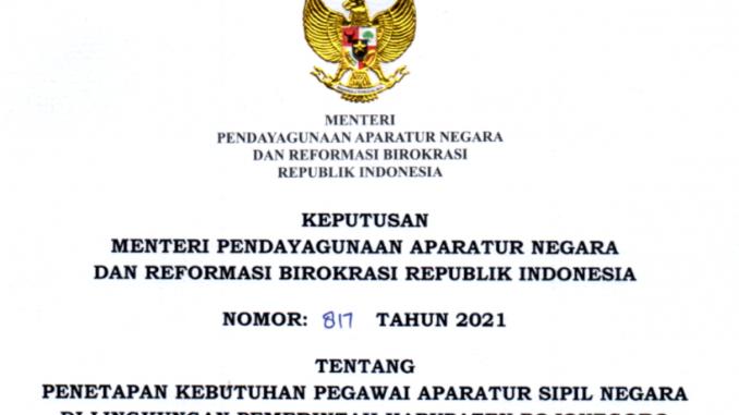CPNS 2021 Kabupaten Bojonegoro