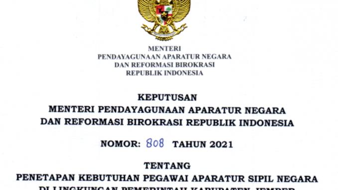 CPNS 2021 Kabupaten Jember