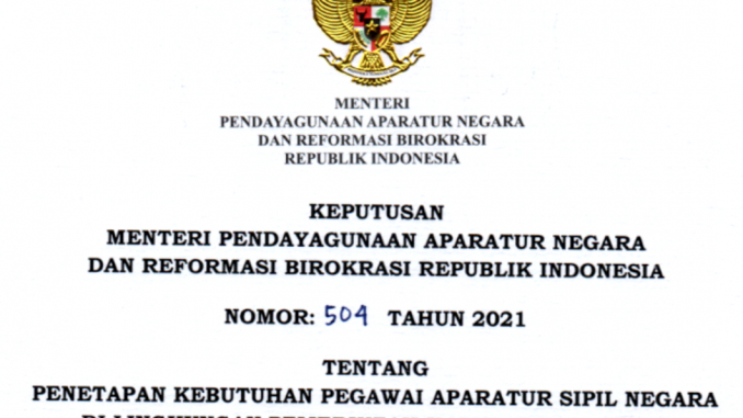 CPNS 2021 Kabupaten Konawe