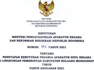 CPNS 2021 Kabupaten Bolaang Mongondow Timur