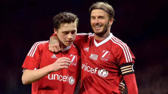 David and Broklyn Beckham