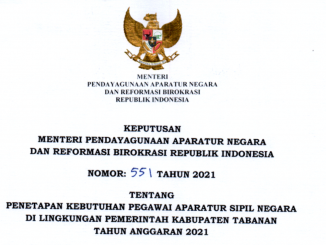 CPNS Tabanan 2021
