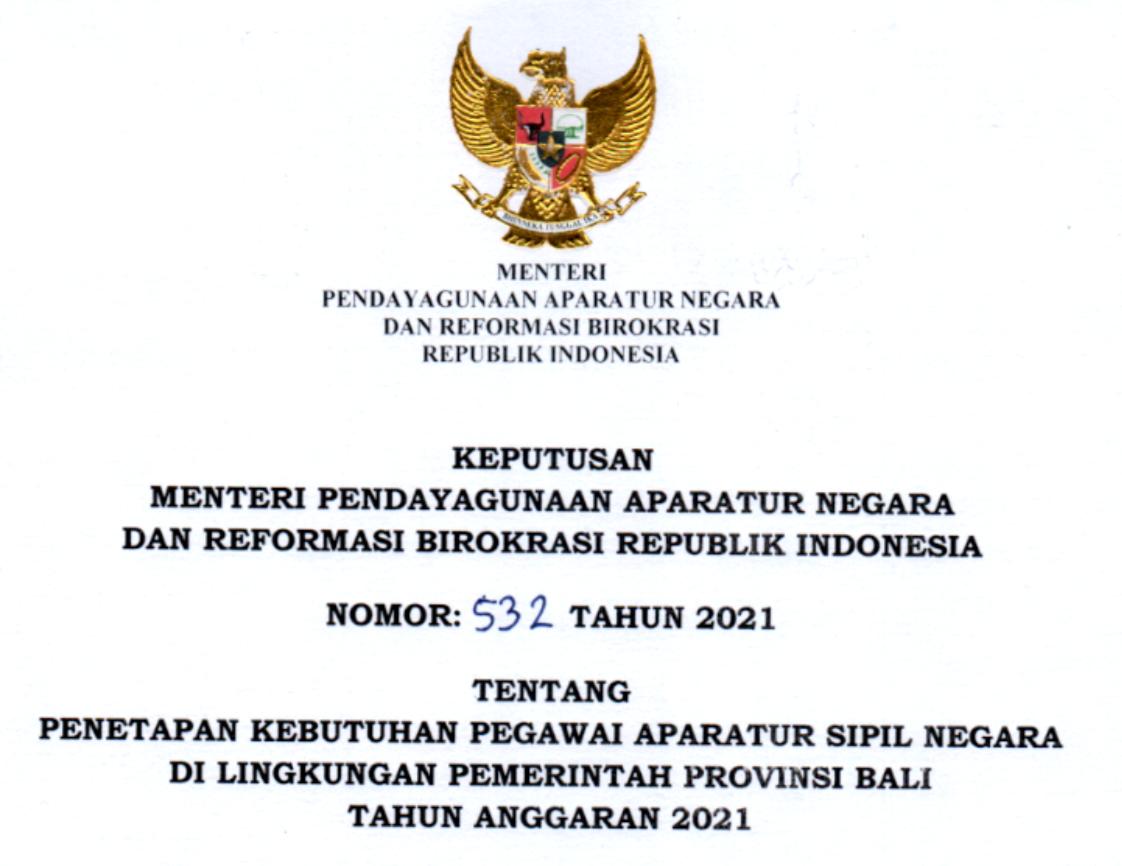 CPNS Provinsi Bali 2021