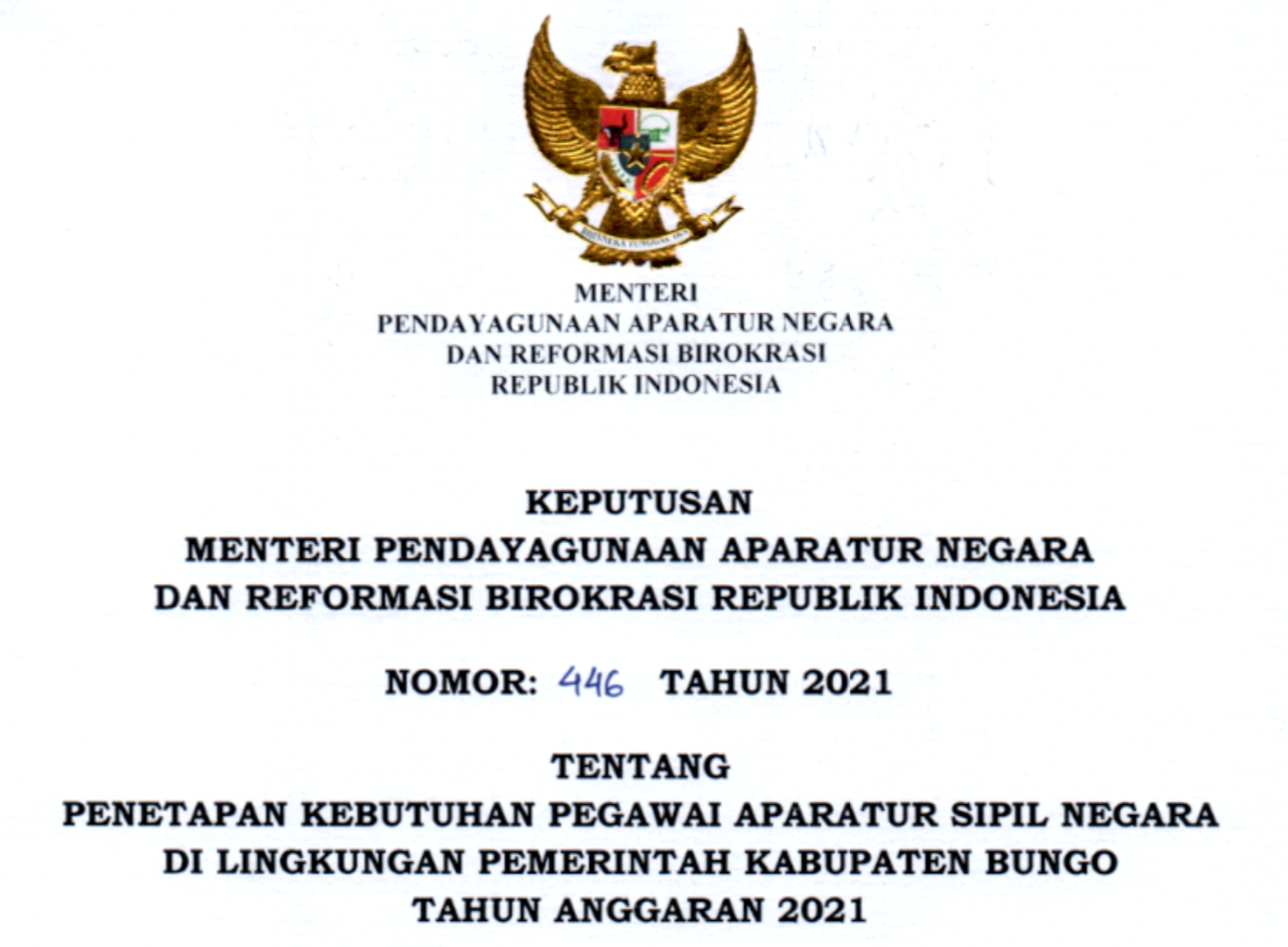 CPNS 2021 Kabupaten Bungo