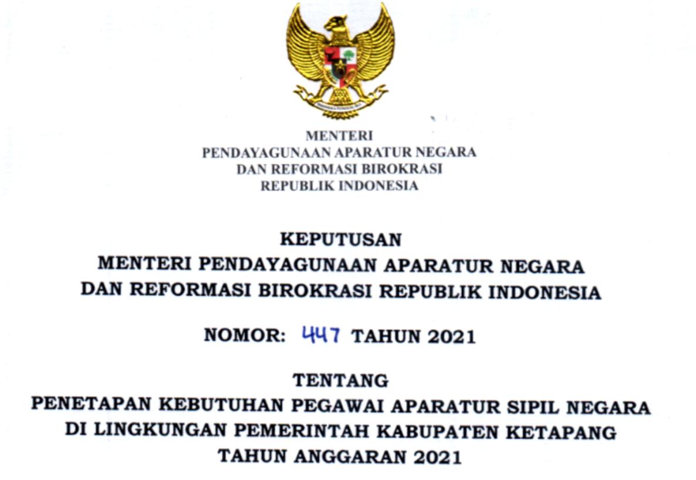 CPNS 2021 Kabupaten Ketapang