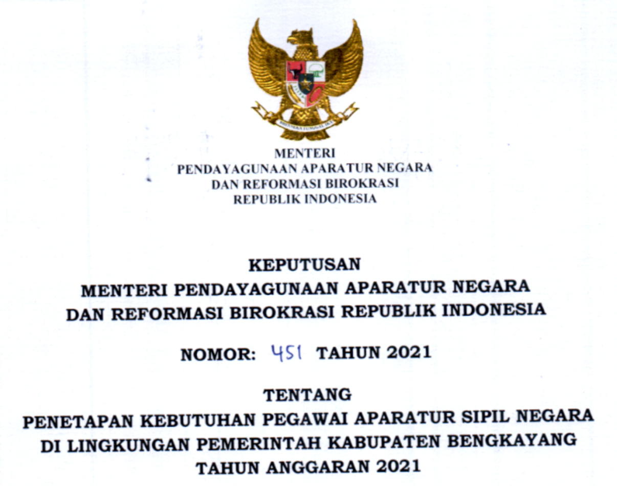 CPNS 2021 Kabupaten Bengkayang