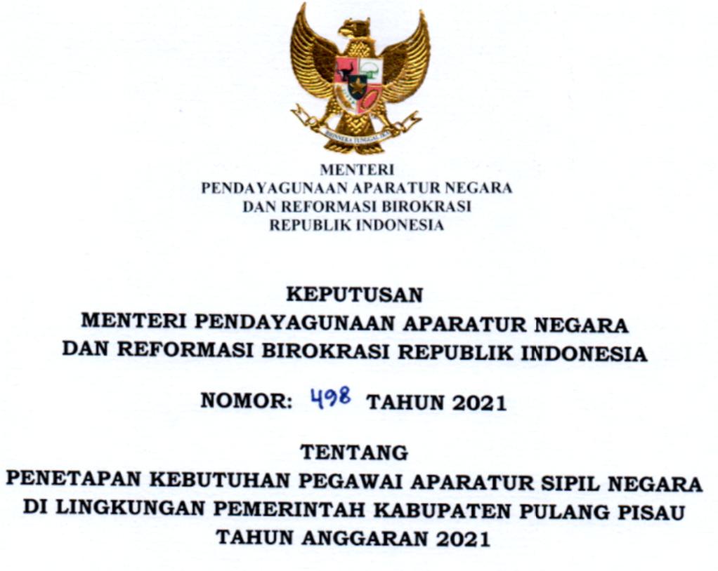 CPNS 2021 Kabupaten Pulang Pisau