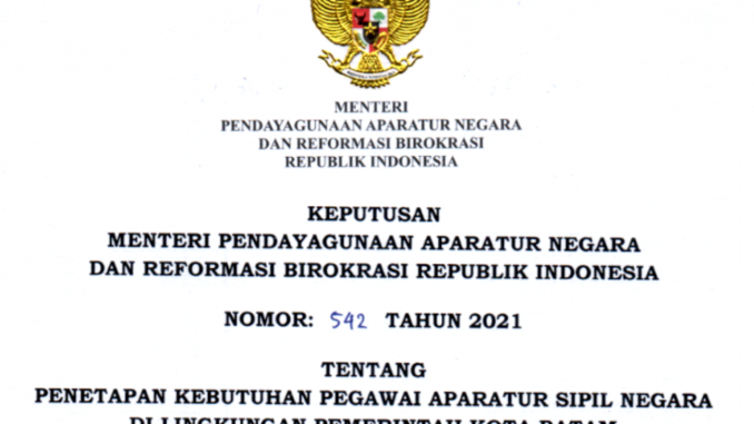 CPNS 2021 Kota Batam