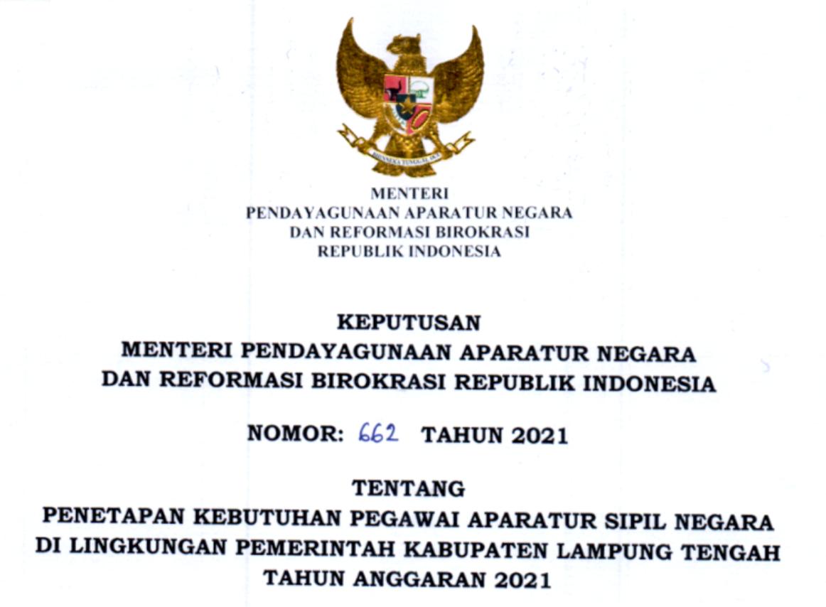 CPNS 2021 Kabupaten Lampung Tengah
