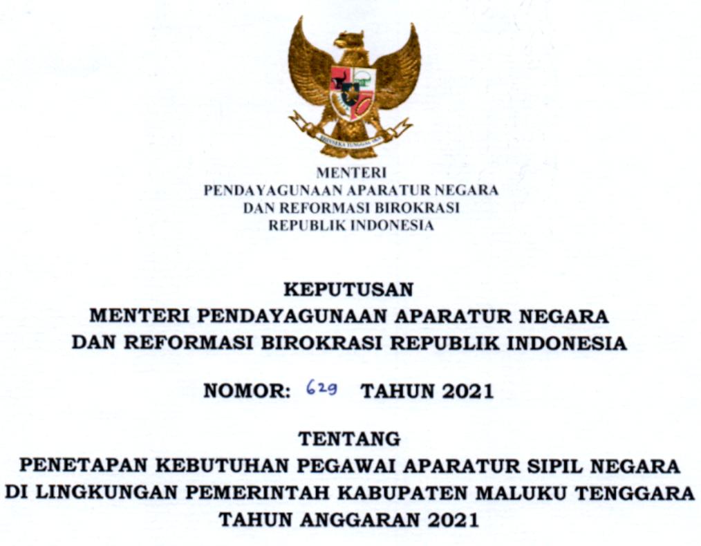 CPNS 2021 Kabupaten Maluku Tenggara