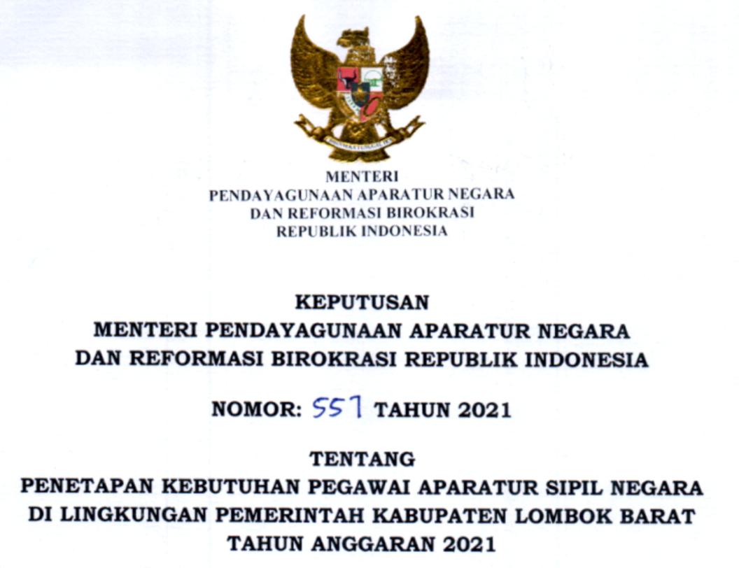 CPNS 2021 Kabupaten Lombok Barat