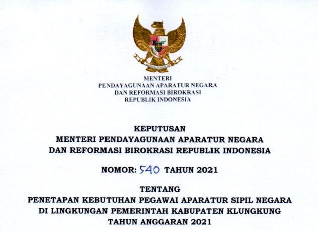 CPNS Klungkung 2021