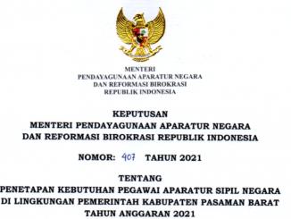 CPNS 2021 Kabupaten Pasaman Barat