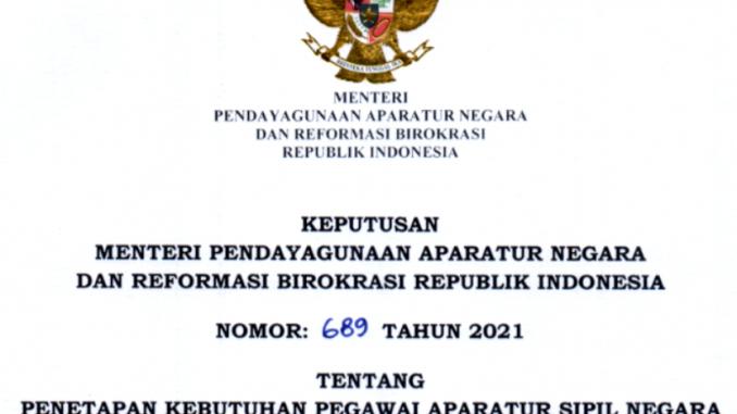 CPNS 2021 Kabupaten Dairi